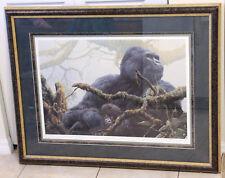 "John Seerey-Lester ""Mountain Cradle"" Hand Signed Lithograph LE /1250 Gorilla"