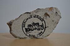 Historia - Pedazo del Muro de Berlin - 1989 Sello- Berliner Mauer Nov 1989