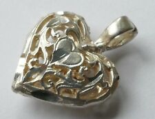 Anhänger Herz filigrane Arbeit Silber Vintage 70er pendant silver