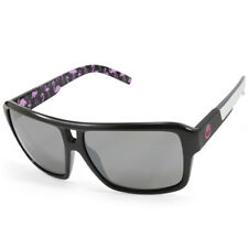 Dragon The Jam 720-2155 Polished Black White Arms/Grey Unisex Sunglasses