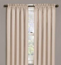 "Pair 42"" x 54"" Eclipse Samara Ivory Blackout Window Curtain Panels (1 set) new"