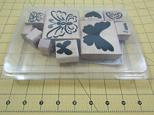 Stampin Up Definitely Decorative Flutterbys Stamp Set of 10 Butterfly Wings
