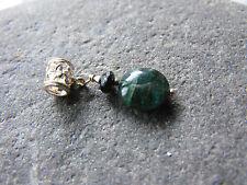 druzy raw gemstone BLUE TOURMALINE INDICOLITE 925 sterling silver pendant #2