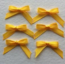 20 Pretty Tangerine Dream 6mm Ribbon bows 🎀 for card making/scrap booking UK