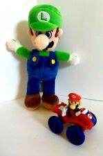 Super Mario Plush Luigi & Super Mario in Car Lot of 2