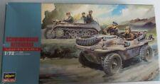 Modellbausatz (Militär) ''Schwimmwagen/Kettenkrad'' Maßstab 1:72 (teils bemalt)
