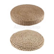 2 Stücke Stroh Sitzkissen für Boden, Esszimmer Stühle, Bürostuhl, Sofa