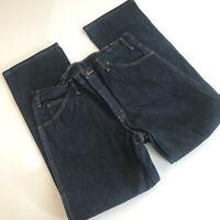 Dickies Mens Jean Sz 34x30 Dark Wash Blue Jean 100% Cotton Straight Leg