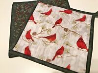 Handmade Christmas Quilted Pot Holders, Fabric Hot Pads, Set of 2