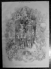GENEVIEVE DE BRABANT THEATRE GAITE PARIS   gravure 1875 antique print