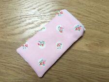 Cath Kidston Floral Spot Pink - Handmade Fabric Glasses Sunglasses Zipped Case