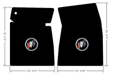 NEW! 1963-1965 Black front Floor mats Buick Riviera embroidered Buick logo Pair