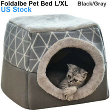 Soft Foldable Dog Cat Cave House Tent Removable Pet Kennel Puppy Bed Us Stock
