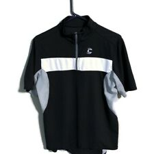 Mens CANNONDALE Cycling Jersey Medoum Black White Silver 1/2 Zip
