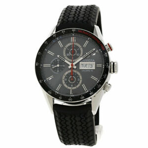 TAG HEUER Carrera Caliber 16 Monaco GP Watches CV2A1M Stainless Steel/Rubber...