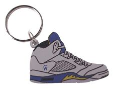 Good Wood NYC Laney 5 White Sneaker Keychain White V Shoe Key Ring Key Fob