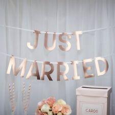 """Hochzeits-Girlande """"Just Married"""" in Roségold / Hochzeits-Deko 1,5m"""