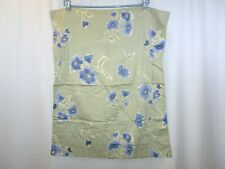 POTTERY BARN SHAM GREEN BLUE FLOWERS Print