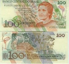 BRESIL Billet neuf de 100 CRUZADOS NOVOS BRAZIL Pick220a Enfant et danse  1989