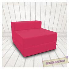 pink Budget BLOCK GEFÜLLT Baumwolle ausklappbar z-bett Matratze Sofa Stuhl Bett