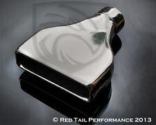 """Exhaust Muffler Tip Rectangular 8"""" width x 2"""" Tall OD Outlet & 2.75"""" Inlet ID"""