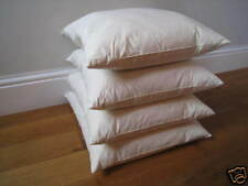 "Duck Feather Cushion Pads 18""x18"" 45cm Square Cambric Cover 4 Pack Made in UK"