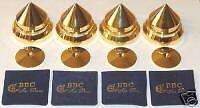 BBC Large Audio Gold Isolation Metal Pro Cones, NEW !!!