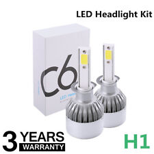 Pair H1 76W 7200LM Car LED Headlight Bulb Conversion Cree COB kit 6000K White
