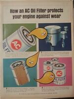 1965 AC Oil Filters Protect Against Engine Wear Car Parts How To  Original Ad