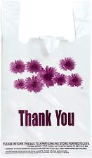 Purple Flower Thank You Plastic T Shirt Bags 300 Pcsroll