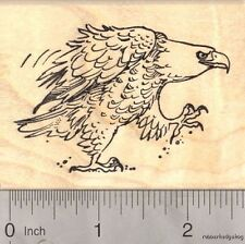 Fierce American Bald Eagle, Patriotic Rubber Stamp Fourth Of July J17501 WM