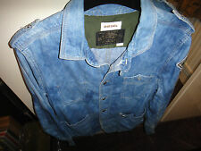 Diesel Blue Denim Shirt Size M Rare!!!!