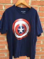 Captain America The Winter Soldier Mens Navy Blue T-Shirt Size Large