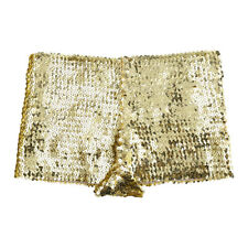 WOMEN SEXY BOXER SHORT HOT PANTS SEQUINED STRETCHY SHORTS CLUBWEAR DANCE PANTIES