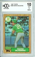 MARK McGWIRE 1987 Topps #366 RC Beckett BCCG 10 Rookie Card * Please Read*