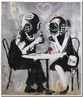 "BANKSY STREET ART CANVAS PRINT Think Tank 16""X 12"" stencil poster"