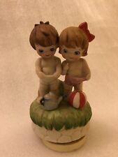 Vintage Kimco Japan Children Boy Girl Figurine Music Box