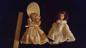 Lot Of 2 Vintage Nancy Ann Storybook Dolls Sleep Eyes With Clothes
