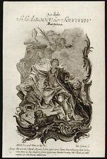 santino incisione 1700 SS.ABDON E SENNEN MM. lobeck