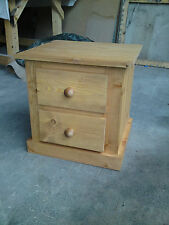 Pine Handmade 51cm-55cm Height Bedside Tables & Cabinets