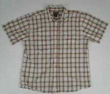 Schmidt Workwear Men's Short Sleeve Button Down Plaid Shirt XL