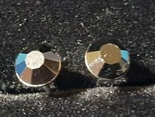 PUNK ROCK BLACK SAPPHIRE  Coloured CZ Stainless Steel Earrings Studs 6.MM
