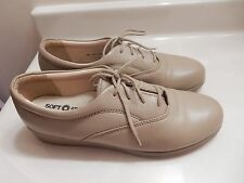 WOMENS SOFT SPOTS ALL DAY COMFORT TAN LEATHER  WALKING SHOES Sz 7.5N