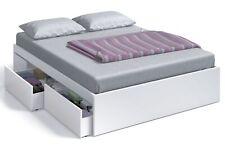 Cama 4 cajones color blanco Artik dormitorio habitacion matrimonio 150x190 cm