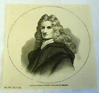 1882 magazine engraving ~ WILLIAM PATTERSON, founder of the BANK OF ENGLAND