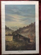 "Vintage 1977 Print ""McCoy Home Place"" Hatfield and McCoy Feud by Russell May"