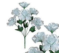 "Lot of 144 Metallic Silver Open Roses 13""-24 Picks Home Decor Craft Flower"