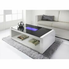 Matrix Modern LED Infinity High Gloss Luxury Home Coffee Table With LED Lights