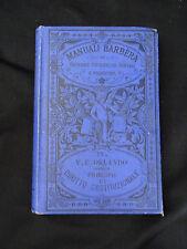 Manuali Barbera – V.F. Orlando Principii di diritto constituzionale Firenze 1890