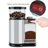 Elektrisch regelbar Edelstahl Kaffeemühle Scheibenmahlwerk Espressomühle 120Watt